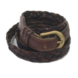 Coach leather braided belt British tan 40 R 100 cm